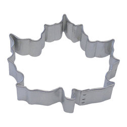 RM - Canada Maple Leaf 3 In. B1677 - Canada Maple Leaf cookie cutter, made of sturdy tin, Size 3 in., Depth 7/8 in., Color silver