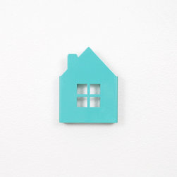 House Wall Hook, Mint - These house-shaped wall hooks are so fun for the nursery.