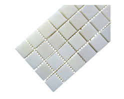 All Marble Tiles - Thassos White 1x1 Polished Marble Square Mosaic - Finish: Polished