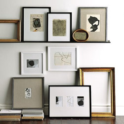 Gallery Frames - Creating a gallery wall of favorite photos, paintings and mementos is one of the simplest ways to express your personal style at home. These popular, versatile, go-anywhere frames come in a wide variety of sizes and finishes to make curating and displaying artworks a work of art all its own. Removable mats make the frames even more adaptable.