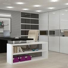 Contemporary Home Office by IZOOOM, design interior studio