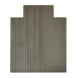Anji Mountain - Anji Mountain Natural Composite Chairmat w/ Lip in Gray - Chairmat w/ Lip in Gray belongs to Natural Composite Collection by Anji Mountain Our Natural Composite Chairmat is an exciting innovation for your office space that brings modern styling and superior durability. Similar in design to popular outdoor composite decking this chairmat distinguishes itself by using recycled bamboo and HDPE from recycled plastic bottles. The textured, matte surface is resilient and provides a smooth rolling surface. This chairmat will make a positive impact on the environment as well as your friends and family. Chairmat (1)