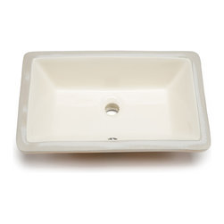 Hahn - Hahn Ceramic Medium Rectangular Bathroom Bowl (UM), Bisque - Hahn Ceramic bathrooms sinks are designed and chosen for their clean lines and durability. These sinks will lend an understated elegance to any style of bathroom.
