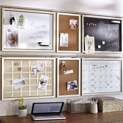 Daily System, Stainless Steel Finish - This is the perfect setup for keeping your busy family schedules organized.