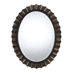 CAL Lighting - Cal Lighting WA-2160MIR Sycamore Oval Polyurethane Beveled Mirror - CAL Lighting WA-2160MIR Sycamore oval polyurethane beveled mirror