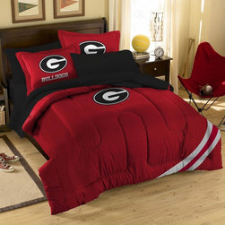 None - Georgia Bulldogs 10-piece Dorm Room in a Box - Support your team with Georgia Bulldogs dorm bedding and bath set. All items in this charming set are made from soft and comfortable double brushed microfiber