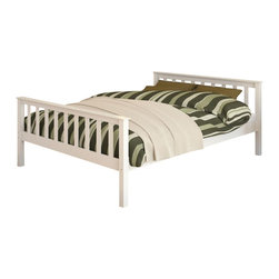 Sonax - Sonax CorLiving Monterey Solid Wood Platform Bed in White-Full Size - Sonax - Beds - BMB415D - Enhance any sleeping space with a bed from CorLiving. The fresh white painted solid wood bed with simple multi-rail styling will provide the perfect spot to curl-up. The Monterey Collection is not only good looking but is upgraded featuring 12 slats of support - No box spring is needed so you can place your mattress directly on the sturdy wood slats. Rest comfortably knowing you�ve invested in a solidly constructed bed from CorLiving.