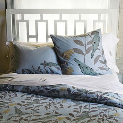 Window Headboard - The airy, geometric pattern of this headboard was inspired by architectural ironwork—adding a decorative element to the bedroom. Its trellis-like design is made entirely of solid wood.