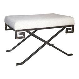NOIR - NOIR Furniture - Ming Stool in Metal - GSTOOL135MT - Ming Collection Stool