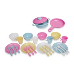 Kidkraft - KidKraft 27-Piece Cookware Play Set in Pastel - Pretend play is even more fun with a colorful play set.