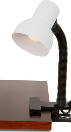 Lightaccents - Clip on Light with Adjustable Gooseneck and Strong Clip (White Metal Head) - This clip-on lamp is perfect for your dorm. With a clip-on base and adjustable neck, this lamp gives you light where you need it. Great light for students and artists.