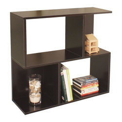 Way Basics - Modular Storage Bookcase in Black - Eco-friendly. Water resistant. Completely recyclable. Two shelves. Super strong 3M heavy duty adhesive bonds the boards together. Formaldehyde free and VOC free so it's safe for family and environment. Maximum weight limit per shelf: 20 lbs.. Warranty: One year. Sustainably made from zBoard - recycled paper. 32.1 in. W x 11.2 in. D x 30.2 in. H (14.7 lbs.). Assembly InstructionsEnjoy the world's easiest tool-free assembly storage furniture. Is it a bookcase, a shelf, side table? We named it Soho, you can call it whatever and use it for whatever your organization needs. With the Soho Shelf we've combined function with fresh design, making this home essential look less like shelving and more like decor. Use it as a side shelf behind your couch, modern bookcase, or a simple room divider. To assemble zBoard storage products, simply peel, stick, done! Tool-free and hardware free.
