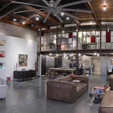 Industrial Living Room by AVB Inc.