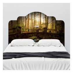 J. Paul Moore - Paul Moore's Abandon Home in Elkmont Headboard Wall Decal - Dream of your cabin in the woods with this adhesive headboard decal behind your bed. Paul Moore's photography takes you to the Great Smokey Mountains by just entering your bedroom. Ah, the beauty and quiet you find here is worth its weight in cords of chopped wood.