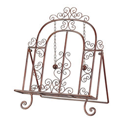 Sterling Industries - Sterling Industries Cook's Bible Stand X-3701-44 - This Sterling Industries Cook's Bible stand features beautiful traditional scrollwork. Twisted metal and classic scrolls are paired together to create an intricate look to this book stand, which is perfect for cookbooks and other reading materials. Finished in a unique rose-gold hue that is sure to please.