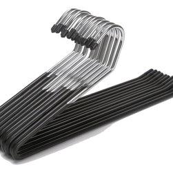 J.S. Hanger - J.S. Hanger® Slacks Pant Hangers, Open Ended, Set of 20 - Feature:
