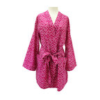 Divine Designs - Priya Bandini Robe - A gorgeous pink color Bandini print gives this robe a timeless ethnic elegance .