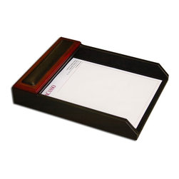 Dacasso - Dacasso Verona Single Letter Tray Multicolor - A8001 - Shop for Desk and Drawer Organizers from Hayneedle.com! Solid rosewood fosters warmth while the tuxedo black top-grain leather adds sophistication. Order today to increase the value of your work load!