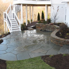 Eclectic Deck by Poole's Stone and Garden, Inc.