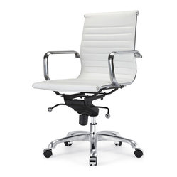Meelano - M344 Office Chair in White -