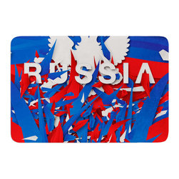 """KESS InHouse - Danny Ivan """"Russia"""" World Cup Memory Foam Bath Mat (24"""" x 36"""") - These super absorbent bath mats will add comfort and style to your bathroom. These memory foam mats will feel like you are in a spa every time you step out of the shower. Available in two sizes, 17"""" x 24"""" and 24"""" x 36"""", with a .5"""" thickness and non skid backing, these will fit every style of bathroom. Add comfort like never before in front of your vanity, sink, bathtub, shower or even laundry room. Machine wash cold, gentle cycle, tumble dry low or lay flat to dry. Printed on single side."""