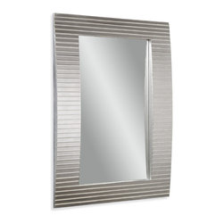 Bassett Mirror - Bassett Mirror Tambour Wall Mirror - Get a sleek, contemporary appearance in your home with the monochromatic Tambour Wall Mirror. Its rectangular shape, beveled mirror segments and slight curve make it feel upscale but understated. Hang it in your bathroom for a look that feels instantly polished.