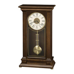 HOWARD MILLER - Stafford Triple-Chime Harmonic Sofa Table Clock - Finished in Cherry Bordeaux on select hardwoods and veneers