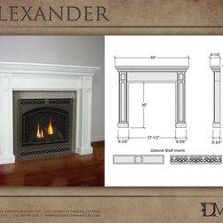 Alexander Stone Mantel by Distinctive Mantel Designs, inc. - Photo by Eric Walden. Copyright Distinctive Mantel Designs, Inc. 2012