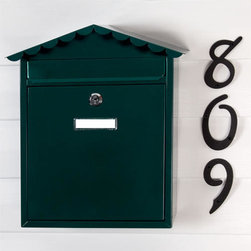 Visit Locking Wall-Mount Mailbox - This Visit Locking Wall-Mount Mailbox has soft, decorative curves leading to the peak of its roof. Add security and beauty to your entryway with this powder coated mailbox.