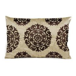 Suzani Pillows - Silk Suzani (sand tones)
