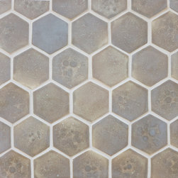 Stardust Honeycomb - Honeycomb tile in Stardust.  Stone looking handmade tile.