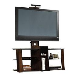 Sauder - Sauder Studio TV Stand Credenza in Cherry and Black Finish - Sauder - TV Stands - 413802 -