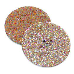 Kate Spade New York - Kate Spade New York Glitter Coaster Set - When has glitter and functional ever been used in the same sentence? Glittery coasters will keep your desk ringless and leave the rings for the fingers. Coaster set includes 4 resin coasters.