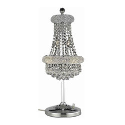 Elegant Lighting - Elegant Lighting 1800TL12 Primo 6 Lights Table Lamp - This classic, elegant Empire series is flowing with symmetry creating a dramatic explosion of brilliance. Primo is a dynamic collection of chandeliers that add decorative drama to any setting.