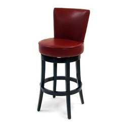 Armen Living Boston Leather Swivel Bar Stool - 30 in. - Red - Attention to detail in the form of nailhead accents on the outside back of the Armen Living Boston 30 in. Leather Swivel Bar Stool - Red adds to the appeal of these attractive chairs. With seats covered in luscious red leather these bar stools also feature solid wood frames and full-ring footrests. Stool dimensions: 22W x 22D x 43H inches seat height: 30 inches. About Armen LivingImagine furniture without limits - youthful robust refined exuding self-expression at every angle. These are the tenets Armen Living's designers abide by when creating their modern furniture collections. Building on more than 30 years of industry experience Armen Living combines functional versatility and expert craftsmanship into their dramatic furniture styles all offered at price points fit for discriminating budgets. Product categories include bar stools club chairs dining tables ottomans sofas and more. Armen Living is based in Sun Valley Calif.