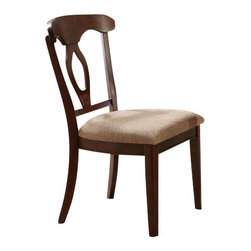"""Coaster - Side Chair (Cherry) By Coaster (Set Of 2) - This set of two traditional chairs feature an open oval motif back with curving top splat creating an elegant and inviting style. Finished in cherry, matching dining table sold separately. Dims: 20"""" X 19"""" X 33.75"""""""