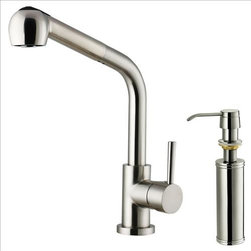 Vigo - VIGO VG02019STK2 Spray Faucet w/Dispenser - Purchase a VIGO faucet that is sure to accentuate your kitchen design for years to come.