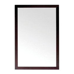 Pegasus - Parisian 24 in. Wall Mirror - 3017M24 - Manufacturer SKU: 3017M24. Rectangular shape. 1.2 in. frame thickness. Espresso finish. Overall: 23 in. W x 31.5 in. H (26.4 lbs.)