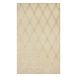 """nuLOOM - Contemporary 2' 6"""" x 8' Ecru Machine Made Area Rug Trellis VL04 - Made from the finest materials in the world and with the uttermost care, our rugs are a great addition to your home."""
