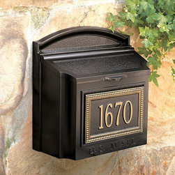 "Ballard Designs - Beaded Mailbox - Hand crafted of cast aluminum and finished with weather resistant paint to last the life of your home. Specify up to five 3"" characters for 1 line or up to nine 1 1/4"" characters for two lines.*Please note that personalized items are non-returnable."