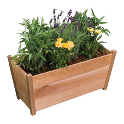 Phat Tommy - Rectangular Wooden Planter - Exteriors are just two of the distinct design features that make the Alta planter truly unique. Whether seeding with an array of colorful perennials to grace your entryway or planting with small trees to improve the privacy of your patio, you will enjoy the natural beauty of this substantial cedar planter year round.