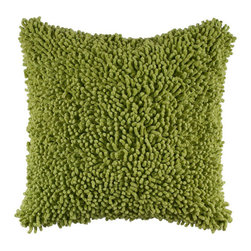 Rizzy Rugs - Rizzy Home Citrus Green 18 Inch x 18 Inch Pillow Cover with Hidden Zipper - - Pillow Cover with Hidden Zipper  - Cotton Fabric  - Shag  - Primary Color - Citrus Green  - Secondary Color - Lime    -  Machine Wash on Gentle Cycle with Mild Detergent.  Lay Flat to Dry. Rizzy Rugs - T04049