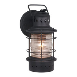 Vaxcel Lighting - Vaxcel Lighting OW37051TB Nautical Transitional Outdoor Wall Sconce - Vaxcel Lighting OW37051TB Nautical Transitional Outdoor Wall Sconce