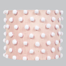 Jubilee Collection - Pom Pink Lamp Shade - - Shade Material: Silk and Cotton Jubilee Collection - 4662