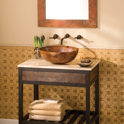 Cuzco Copper Vanity Base by Native Trails