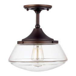 Modern Diner Ceiling Light, Bronze - I love the schoolhouse industrial vibe of this ceiling fixture.