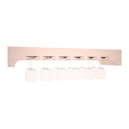 Wine Racks America - Stemware Glass Rack w/ Arched Panels in PIne, White Wash - Our stemware rack with an arched front panel is a classy way to display your finest crystal. Designed to be installed over any Wine Racks America Tasting Table, create an intimate and functional tasting station. Gracefully displays 18 wine glasses. Your satisfaction is guaranteed.