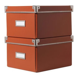 Jon Karlsson - KASSETT DVD box with lid - DVD box with lid, orange