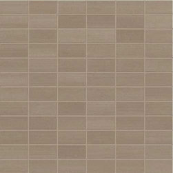 """Marca Corona - Streaming Olive Rectified Natural 1"""" x 2"""" Mosaic - Streaming  by Marca Corona is a full-body colored porcelain line. Contemporary design, sought-after appeal and extreme versatility are the main features of this product. Streaming creates charming floor applications as well as spectacular wall cladding."""