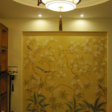 Traditional Wallpaper by ATHENA  ART hand-painted